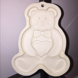 Vintage Pampered Chef Teddy Bear Stoneware Mold